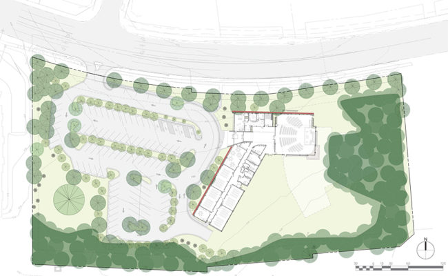 Kol Shalom Site Plan-TREES.ai